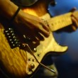 Hands playing on guitar — Stock Video #49949715