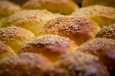 Baked buns with sesame — Stock Photo