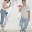 Stock Photo: Portrait of couple painting