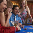 Playing at a blackjack table — Stock Photo