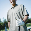 Portrait of male golfer - ストック写真