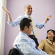 Multi-ethnic businesspeople in meeting — Stock Photo