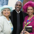 Portrait of senior African American women and Reverend — Photo