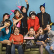 Group of young adults having birthday party — Stock Photo #13222776
