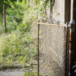 Rusted gate - Stock Photo