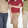 Studio shot of three young women — Stock Photo