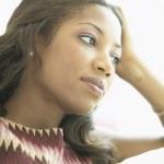 Woman thinking — Stock Photo