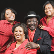 Stock Photo: Portrait of Africfamily wearing matching clothing