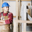 Royalty-Free Stock Photo: Man wearing hard hat in workshop