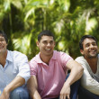 South American men laughing - Stock Photo