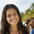 South American woman at beach — Stock Photo #13224666