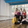 Royalty-Free Stock Photo: Portrait of Hispanic dancers in dance studio