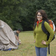 Stock Photo: Portrait of Indiwomat campsite