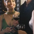 Portrait of Hispanic woman at party — Stock Photo
