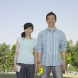 Foto Stock: Young couple posing