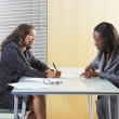Businesswomen in a meeting — Stock Photo