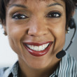 Royalty-Free Stock Photo: African businesswoman wearing headset