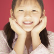 Portrait of a young girl smiling — Stock Photo