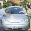 Couple washing their car - Foto de Stock