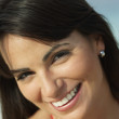 Stock Photo: Close up of South American woman smiling