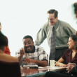 Multi-ethnic businesspeople at meeting — Stock Photo #13227485