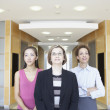 Stock Photo: Portrait of three businesswomen