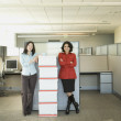 Portrait of multi-ethnic businesswomen in new office — Stock Photo