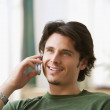 Man talking on cell phone - Stock Photo