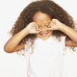 African girl rubbing eyes — Stock Photo