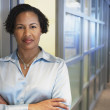 African American businesswoman at office — Stock Photo