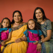 Stockfoto: Multi-generational Indian family in traditional dress
