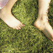 Stock Photo: Bare feet in grass