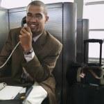 Portrait of businessman on phone — Stock Photo