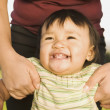 Stock Photo: Close up of Pacific Islander baby smiling