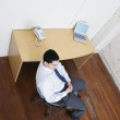 Stock Photo: Businessmsitting at desk