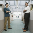 Full length portrait of two businessmen — Stock Photo