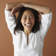 Asian woman laughing — Stock Photo #13228716