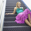 Young woman reclining on staircase - Foto Stock