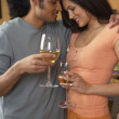 Couple drinking white wine — Stock Photo #13229077