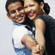 Stock Photo: Young couple posing in tango position