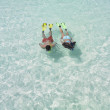Couple snorkeling - Stock Photo