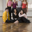 Stock Photo: Portrait of Hispanic dancers in dance studio