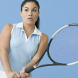 Teen girl ready to play tennis — Stock Photo #13229993
