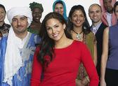Multietniskt i traditionell klädsel — Stockfoto