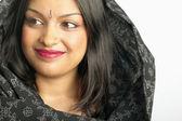 Woman wearing scarf on head — Stock Photo