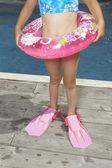 Young girl in scuba gear — Stock Photo