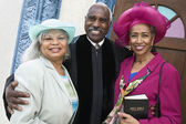 Portrait of senior African American women and Reverend — Stock Photo