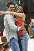 South American couple dancing — Stock Photo