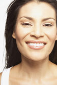 Close up portrait of woman smiling — Stock Photo