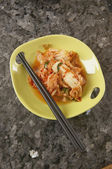 Asian entree with chopsticks — Stock Photo